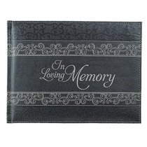 Guest Book: In Loving Memory Charcoal Luxleather