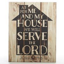Plaque Mdf: As For Me and My House (Joshua 24:15)
