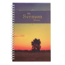 Spiral Notebook: My Sermon Notes (Tree In Field)