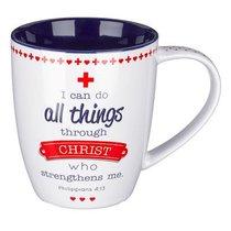 Ceramic Mug: A Cheerful Heart.... I Can Do All Things (Phil 4:13)