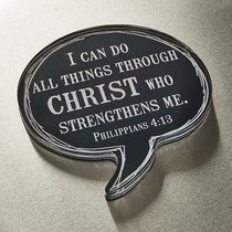Acrylic Bubble Magnet: I Can Do All Things Through Christ