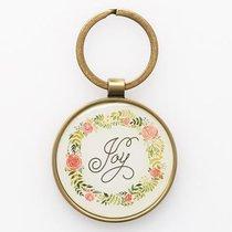 Keyring in Tin: Joy Rom 12:12 (Colored Wreath)