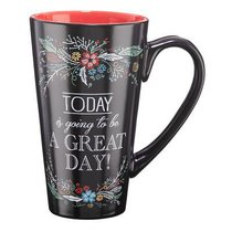 Ceramic Mug: Today is Going to Be a Great Day (Black/red)