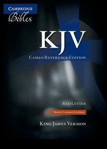 KJV Cameo Reference Brown (Red Letter Edition)