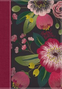 NKJV Womans Study Indexed Bible Pink Floral Cloth Over Board Full Color Fully Revised