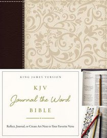 KJV Journal the Word Bible Brown/Cream (Red Letter Edition)