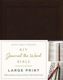 KJV Journal the Word Bible Large Print Bonded Leather Brown Red Letter Edition