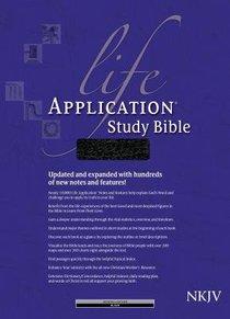 NKJV Life Application Study Bible Indexed Black (Red Letter Edition)