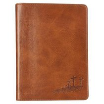 Handy-Sized Journal: John 3:16 Cross/Tan Luxleather