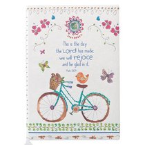 Silky-Soft Printed Journal: This is the Day Bicycle Luxleather
