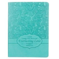 Handy-Sized Journal: Everlasting Love Turquoise Luxleather