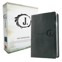 NLT Jesus Centered Bible Charcoal (Red Letter Edition)
