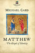 Matthew: The Gospel of Identity (Biblical Imagination Series) Paperback