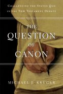The Question of Canon Paperback