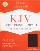 KJV Large Print Compact Black Magnetic Flap (Red Letter Edition) Bonded Leather