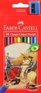 Faber-Castell Classic Colour Pencils Set of 24 + Bonus Sharpener Stationery