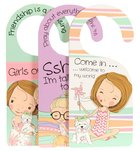 Doorknob Hanger: Holly & Hope - 3 Doubled-Sided Hanger/Set