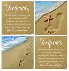 Absorbent Ceramic Coaster Set of 4: Footprints Homeware