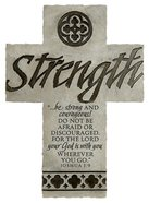 Wall Cross: Strength Large (36cm X 26cm) Plaque