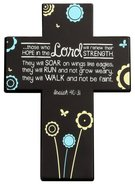Joy Blossoms Small Cross: Hope Black/Blue/White (Isaiah 40:31) Homeware