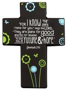 Joy Blossoms Small Cross: Journey Black/Blue/Yellow/White (Jeremiah 29:11) Homeware