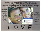 Pewter Photo Frame: Love