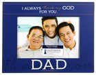 Metal Photo Frame: Thank You Dad Dark Blue/White (1 Cor 1:4) Homeware