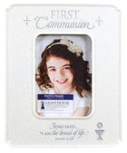 Photo Frame Cast Stone: First Communion Desktop (John 6:35) Homeware