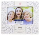 Ceramic Photo Frame Stamped Words: Mum White (Phil 1:3)