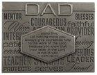 Laser Engraved Plaque: Dad Silver (1 Cor 15:58) Plaque