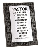 Plaque: Pastor Badge of Faith (7cm X 12cm) Plaque