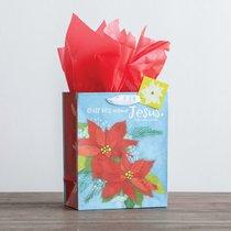 Christmas Gift Bag Medium: His Name (Matthew 1:21 KJV) (Incl Tissue Paper & Gift Tag)