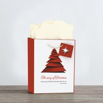 Christmas Gift Bag Medium: Because of Bethlehem (Incl Tissue Paper & Gift Tag)