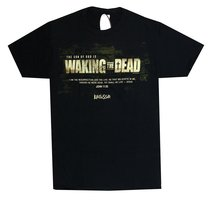 Mens T-Shirt: Waking the Dead Medium Black/White (John 11:25)