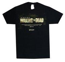 Mens T-Shirt: Waking the Dead Large Black/White (John 11:25)
