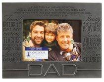 Engraved Metallic Photo Frame: Dad Pewter (1 Cor 15:58)
