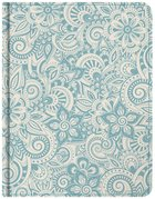 KJV Notetaking Bible Blue Floral Bonded Leather