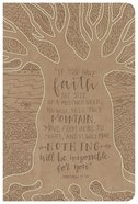 HCSB Large Print Personal Size Reference Bible Natural Faith Leathertouch Imitation Leather