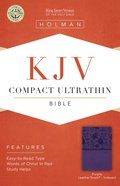 KJV Compact Ultrathin Reference Bible Purple Indexed