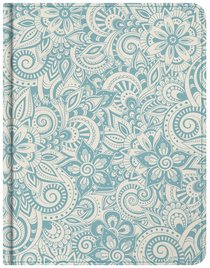 NKJV Notetaking Bible Blue Floral