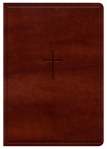 KJV Large Print Compact Reference Bible Indexed Brown Cross