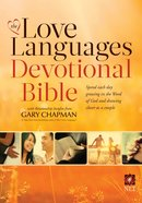 NLT the Love Languages Devotional Bible Hardback