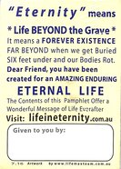 A Huge Question?: Where Will You Be In... Eternity? (Pack Of 50)
