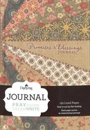 Journal: Promises & Blessings (Floral Bookcloth Cover)