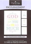 Boxed Cards Encouragement: Clear Message (Full Color Design Inside & Out) Box