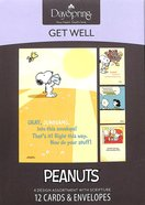 Boxed Cards Get Well: Peanuts Box