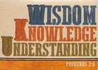 Trend Notes: Letterpress Wisdom (Proverbs 2:6 Niv) Stationery