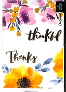 Note Cards: Thankful Floral (50 Pack) Stationery