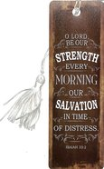 Bookmark With Tassel: Finishing Strong: O Lord, Be Our Strength, (Beige/tan) Stickers