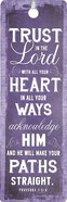 Bookmark With Tassel: Finishing Strong: Trust in the Lord... (Purple)